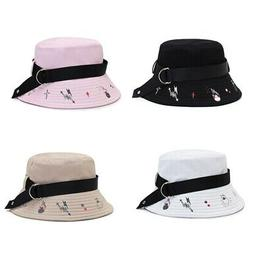 Summer Men Women Street Style Hip Hop Plain Bucket Hat Cap C