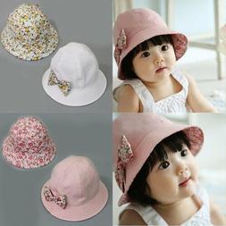 Summer Newborn Baby Girls Kids Princess Infant Flower Sun Ca