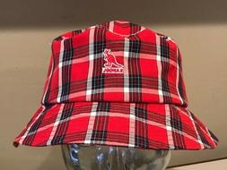 KANGOL Summer Plaid Red Bucket Hat Cap COOL  LARGE 59cm  NEW