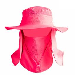 Summer Outdoor Sun Protection Fishing Cap Neck Face Hat Wide