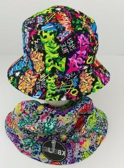 KBETHOS Summer Wear Graffiti/Tag Bucket Boonie Hat New One S
