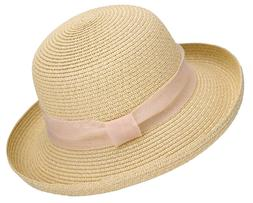 Summer Women Lady Straw Hat Beach Structured Bucket Hats Pac