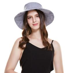Summer Women's Hats Beach Panama Bucket Hat Bow Wide Brim Ca