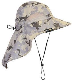 Sun Blocker Unisex Large Bill Flap Sun Hat Camping Hiking Hu