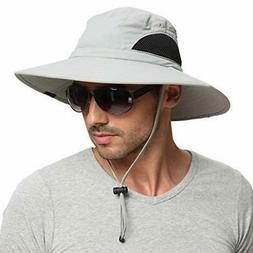 Sun Hat for Men, Bucket Hat Waterproof Breathable Packable H