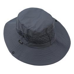 Sun Hat Outdoor UV Protection Bucket Mesh Boonie Hat Fishing