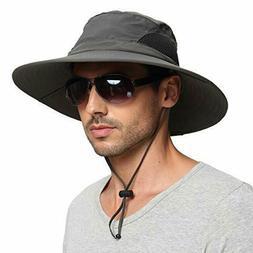 Sun Protection Wide Brim Bucket Hat Waterproof Breathable Pa