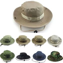Army Green Camo Hunting Fishing Hiking Bucket Hat Caps Mens