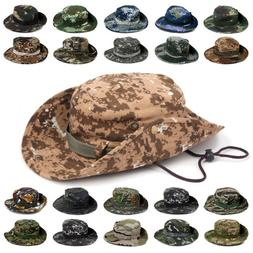 Tactical Army Military Boonie Bucket Hat Men's Jungle Bush S
