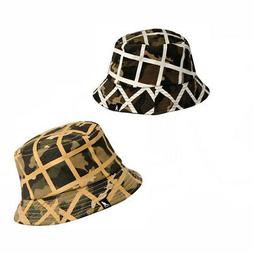 Kangol The Camo Check Bucket features an underlying all over