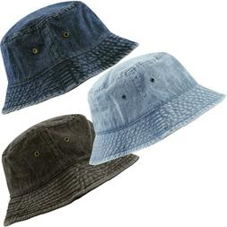 The Hat For Women Men Depot Washed Cotton Denim Bucket Sun C