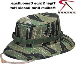 Tiger Stripe Camo Military Style Boonie Hat Bucket Hat Jungl