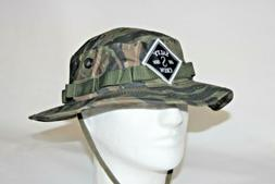 Salty Crew Tippet Logo Patch Bucket Hat in Tiger Camo OSFA