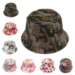 Toddler Baby Kids Boys Girls Floral Pattern Bucket Hats Sun
