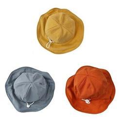 Toddler Boy Girl Adjustable Double Sided Bucket Hat Reversib