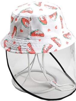 Toddler Bucket Hat Removable Face Shield Hat Cap for Baby Bo