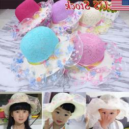 Toddler Kid Baby Girl Outdoor Sun Hat Brim Summer Bucket Hat