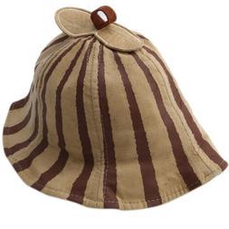 Toddler Kids Baby Boys Girls Stripe Sun Hat Summer Beach Hat