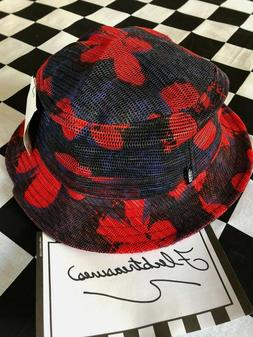 Vans Undertone Mesh Bucket Hat Blue & Red Tropical Floral Ne