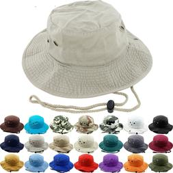 Unisex 100% Cotton Bucket Hat Fish man Camping Safari Boonie