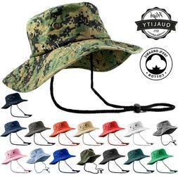 Unisex 100% Cotton Bucket Hat Fishing Camping Safari Militar