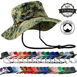 Unisex 100% Cotton Camo Bucket Hat Fishing Camping Safari Bo