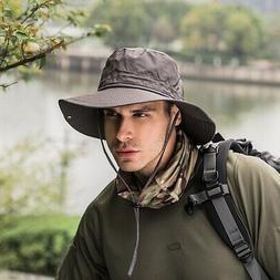 Men Women Bucket Hat Boonie Hunting Fishing Outdoor Wide Bri