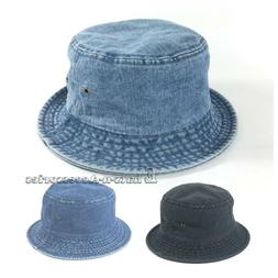 Unisex Headwear Fashion Denim Bonnie Bucket Safari Fishing H