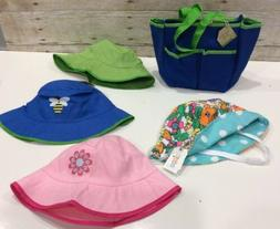 Unisex  Infant/TODDLER  Sun Bucket HAT LOT of 4 Hats with Ga