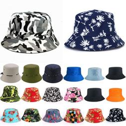Men Unisex Cotton Bucket Hat Boonie Brim Fishing Safari Summ