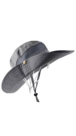 UNISEX Men Women Gray bucket boonie outdoor sun safari Hat O