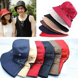Unisex Men Women Kids Sun Hat Outdoor UPF 50+ Cotton Hiking