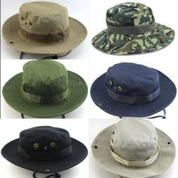 Unisex Mens Bucket Hat Boonie Outdoor Hunting Fishing Canvas