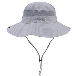 Unisex Outdoor Sun Cap Camouflage Bucket Mesh Boonie Hat