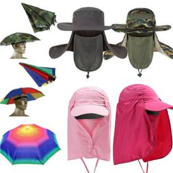 Unisex Sport Fishing Hiking UV Protect Hat Fold Sun Umbrella