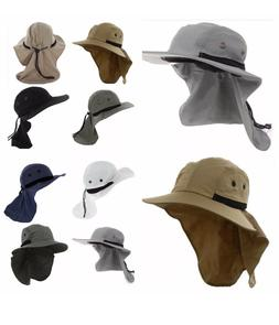 1-4 Unisex UV Protection Boonie HAT Outdoor Brim Neck Cover