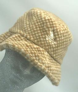Unisex Kangol White | Beige Faux Fur Bucket Hat