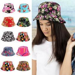 Unisex Women Girls Bucket Sun Hat Boonie Outdoor Cap Summer