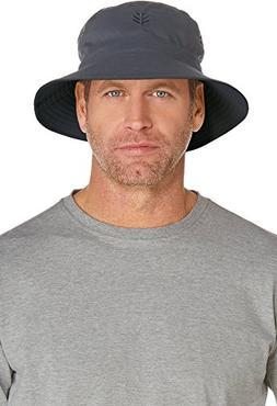 Coolibar UPF 50+ Men's Reversible Bucket Hat - Sun Protectiv