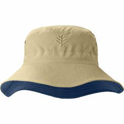 Coolibar UPF 50+ Men's Women's Landon Reversible Bucket Hat