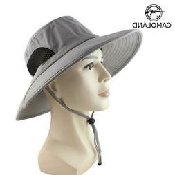 UPF 50+ Summer Wide Brim Bucket Hat Waterproof Breathable Pa