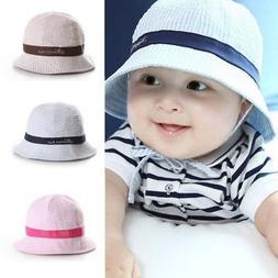 US Baby Kids Summer Sun Cap Infant Boy Girl Beach  Bucket Ha