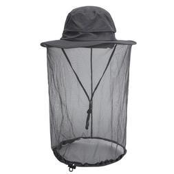 Fisherman Wide Brim Hat Bucket Mesh Boonie Cap Sun Protect O