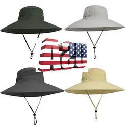 US Outdoor Women Men Bucket Hat Hunting Fishing Cap Wide Bri