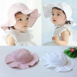 US Toddler Baby Kids Girl Outdoor Sun Hat Brim Summer Bucket