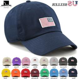 The Hat Depot USA/ Flag Embroidered Washed Cotton Low Profil