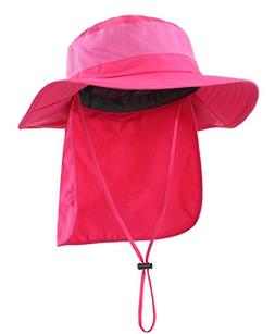 Home Prefer Womens UV Protective Sun Hat with Neck Flap Mesh