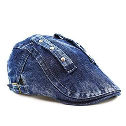 THE HAT DEPOT Variety Washed Denim Newsboy Ivy Style Hat