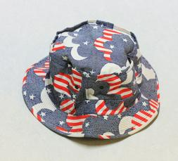 Vintage 1960's/70's PATRIOTIC STYLE Easy-To-Roll Bucket Hat
