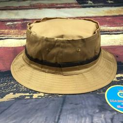 Vintage Golden Roll Up Bucket Hat Cap Fishing Hiking Golf Me
